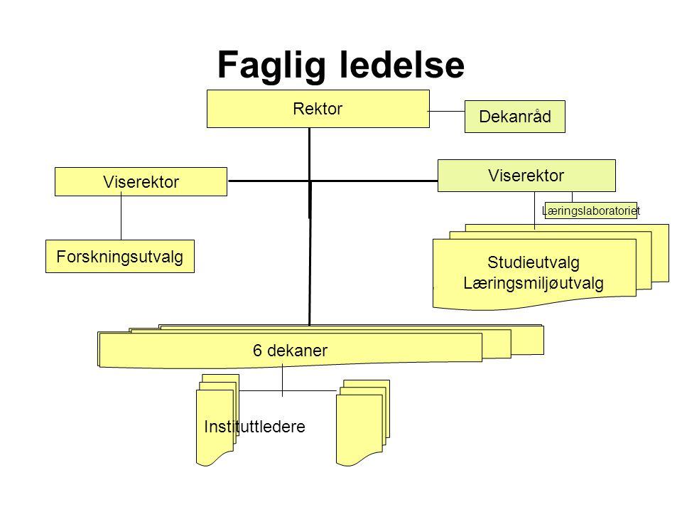 Faglig ledelse Rektor Dekanråd Viserektor Viserektor Studieutvalg