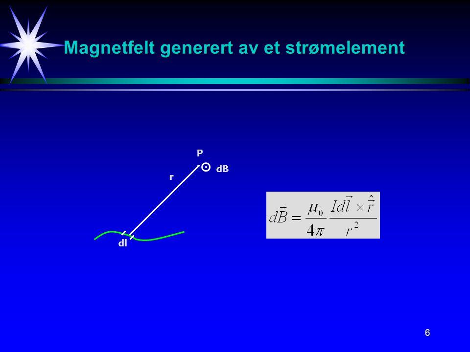 Magnetfelt generert av et strømelement