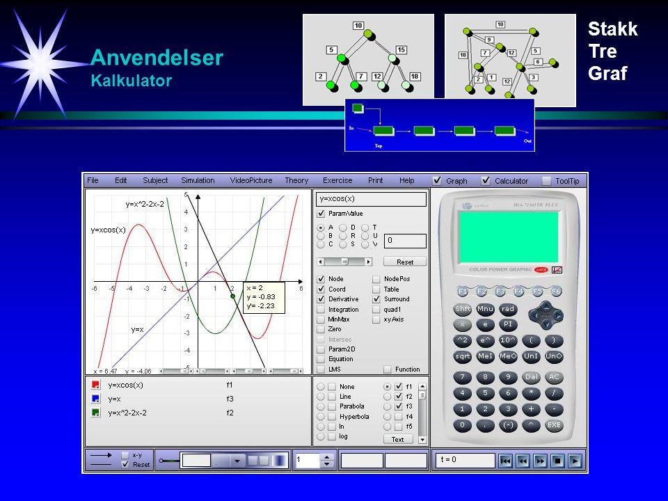 Anvendelser Kalkulator