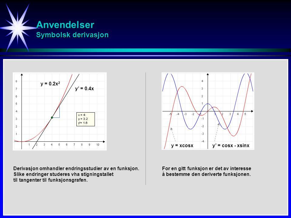 Anvendelser Symbolsk derivasjon