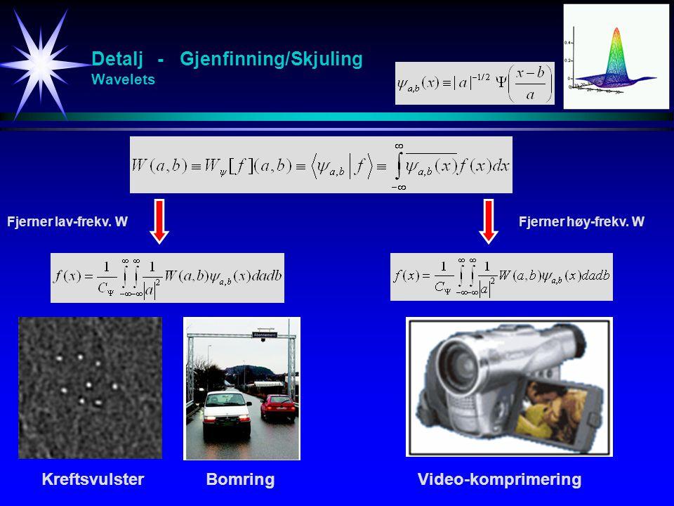 Detalj - Gjenfinning/Skjuling Wavelets