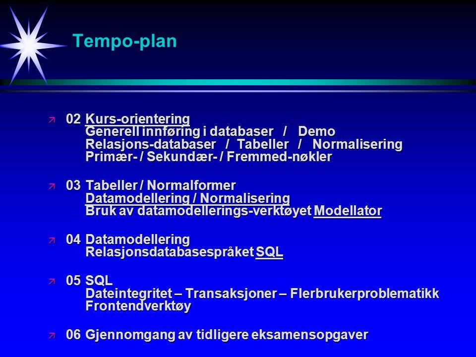 Tempo-plan