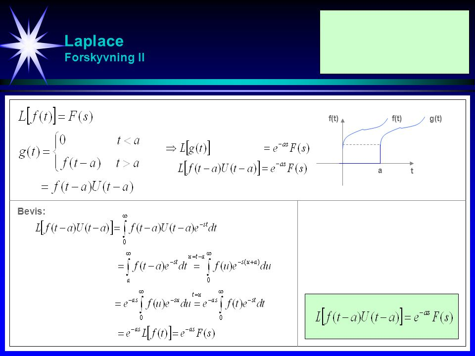 Laplace Forskyvning II