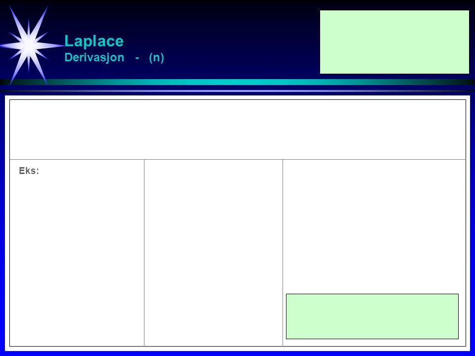 Laplace Derivasjon - (n)