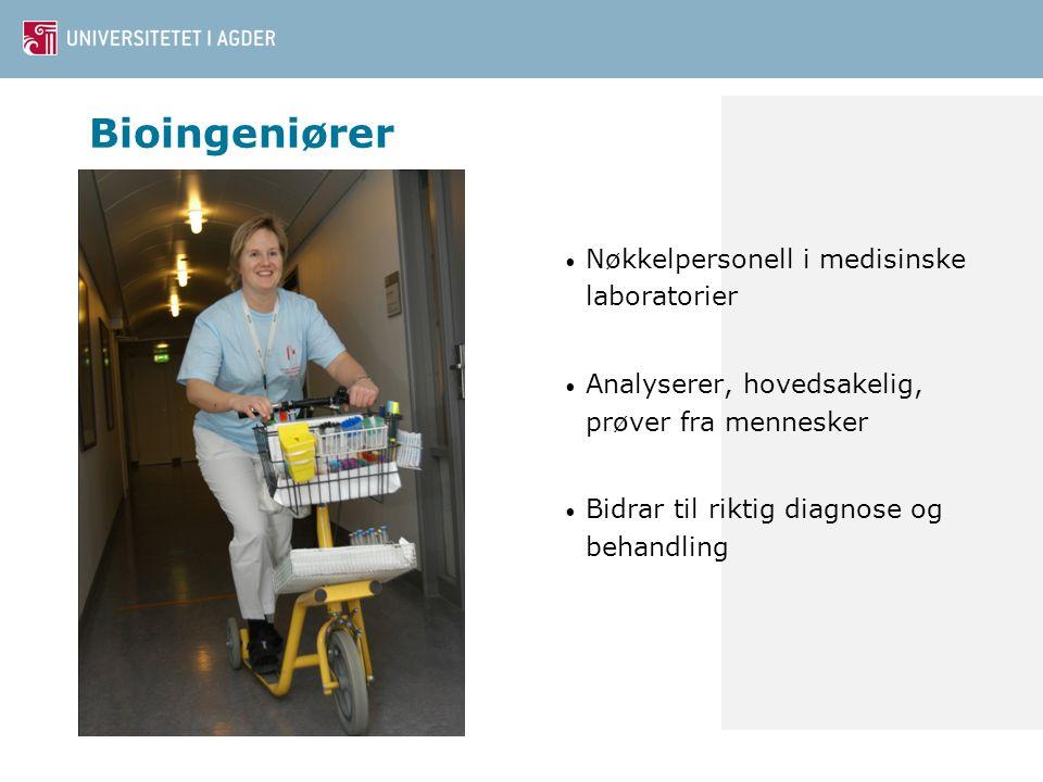 Bioingeniører Nøkkelpersonell i medisinske laboratorier