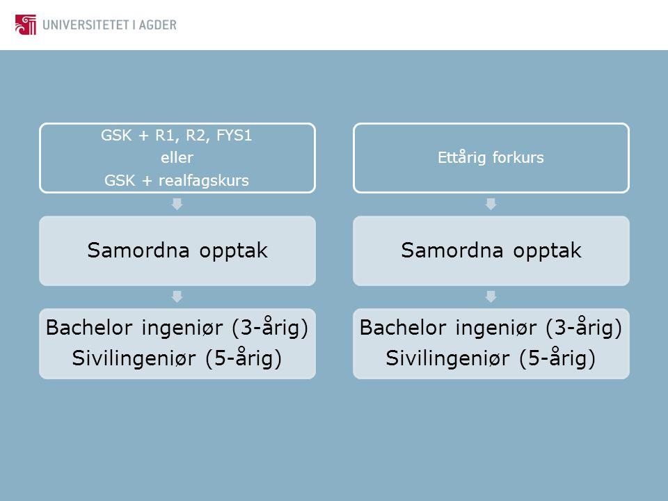 Bachelor ingeniør (3-årig) Sivilingeniør (5-årig)