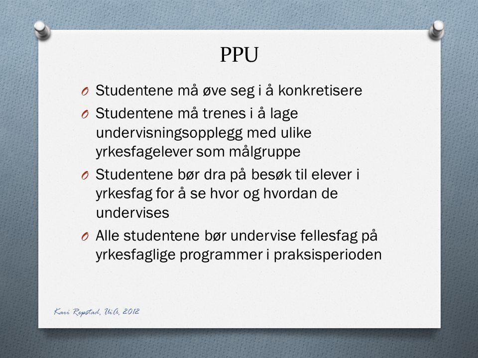 PPU Studentene må øve seg i å konkretisere