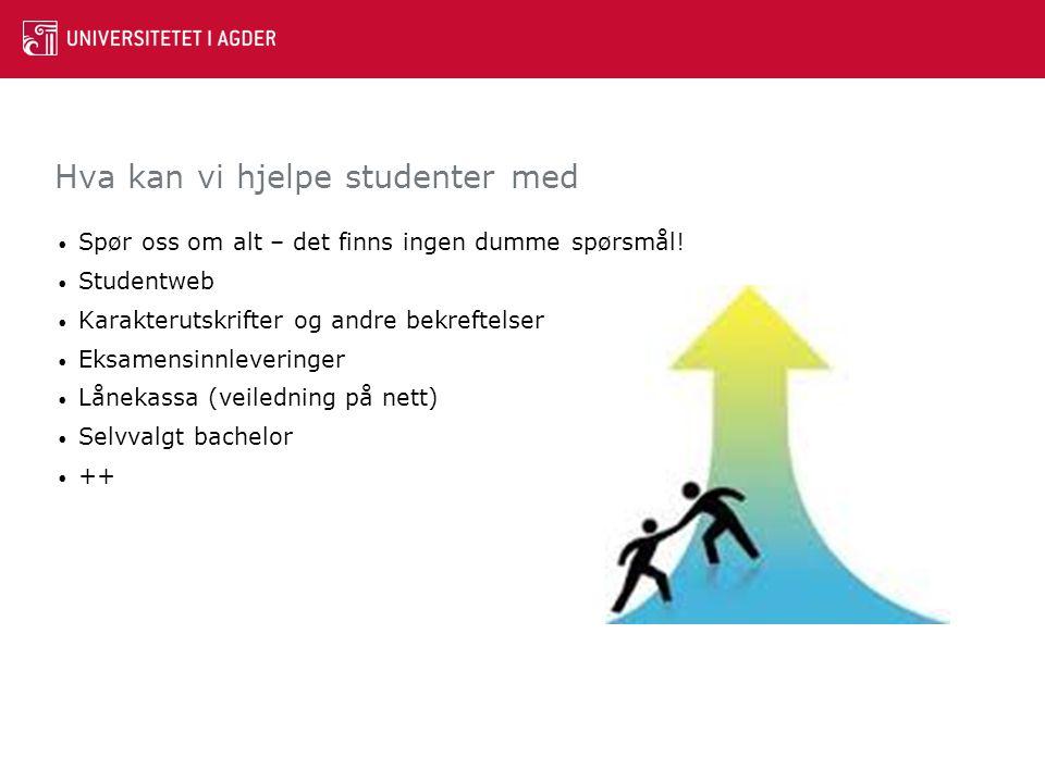 Hva kan vi hjelpe studenter med