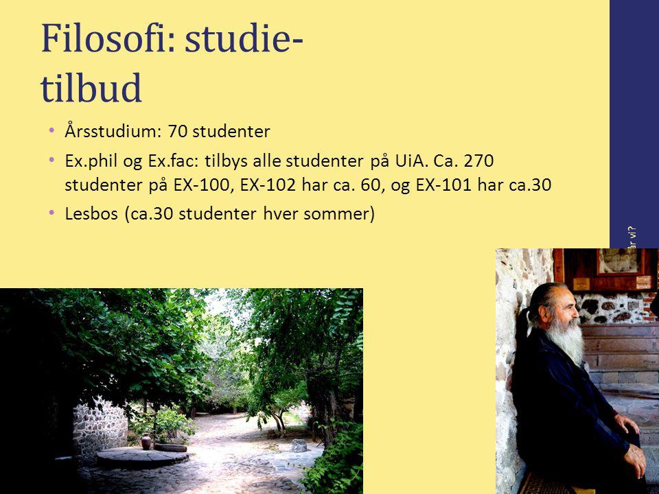 Filosofi: studie- tilbud