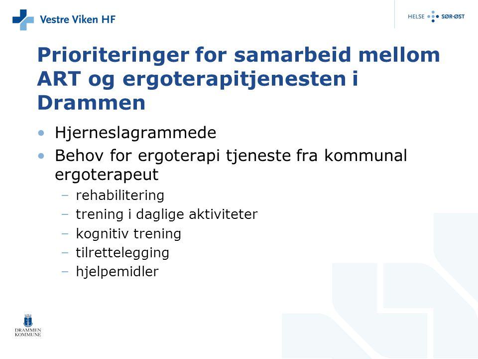 Prioriteringer for samarbeid mellom ART og ergoterapitjenesten i Drammen