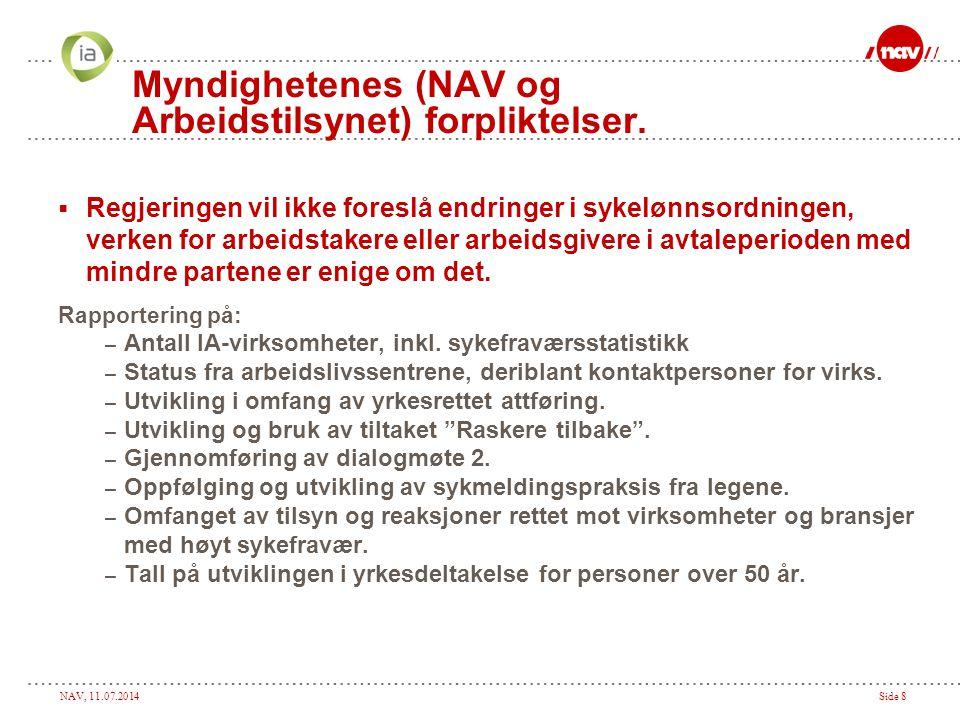 Myndighetenes (NAV og Arbeidstilsynet) forpliktelser.