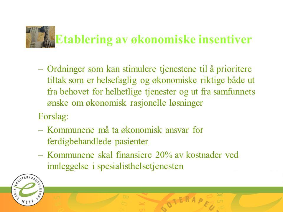 Etablering av økonomiske insentiver