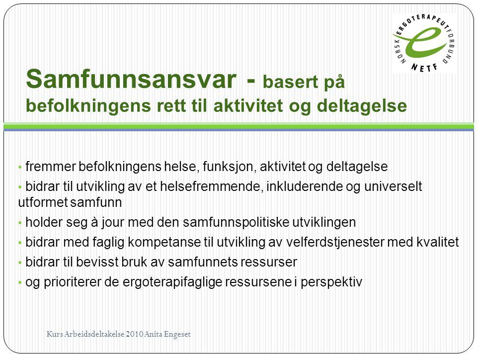 Samfunnsansvar - basert på befolkningens rett til aktivitet og deltagelse