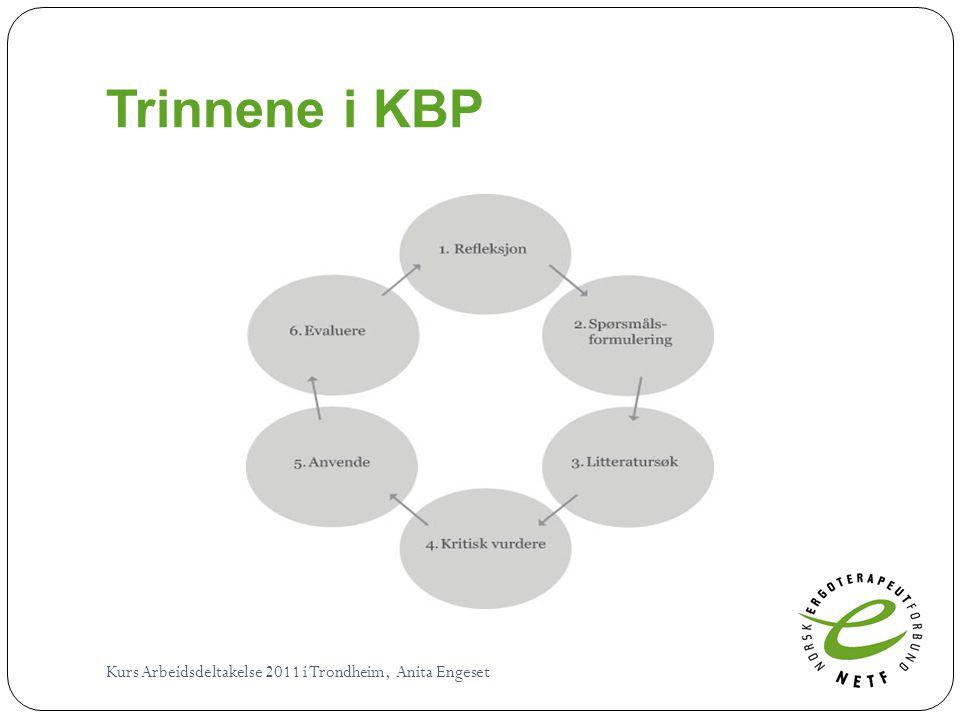 Trinnene i KBP Kurs Arbeidsdeltakelse 2011 i Trondheim, Anita Engeset