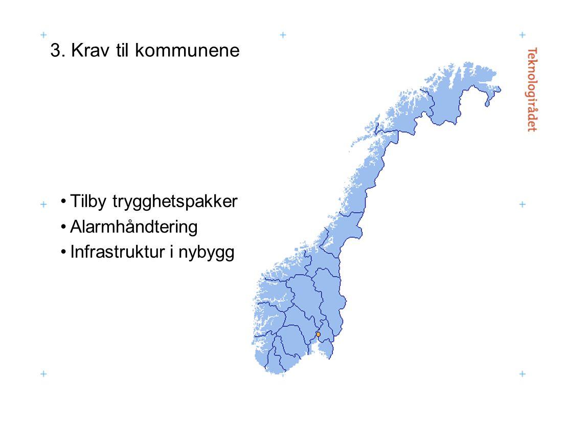 3. Krav til kommunene Tilby trygghetspakker Alarmhåndtering