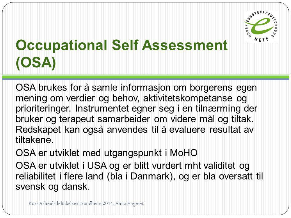 Occupational Self Assessment (OSA)