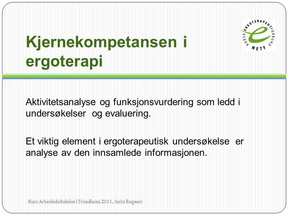 Kjernekompetansen i ergoterapi