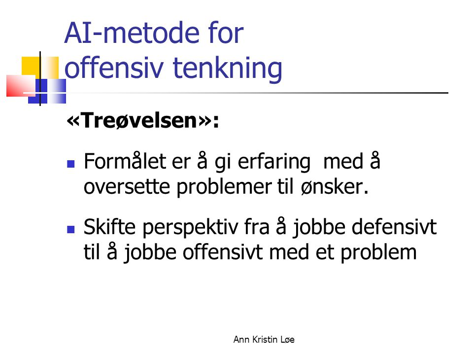 AI-metode for offensiv tenkning
