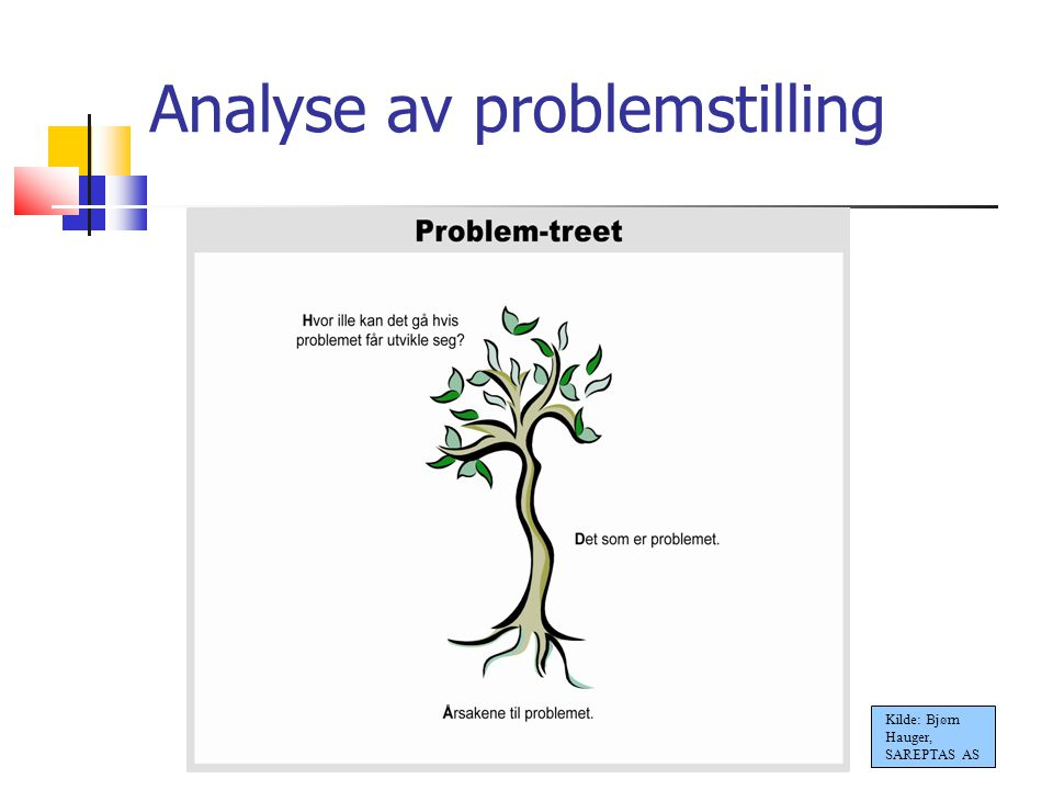 Analyse av problemstilling