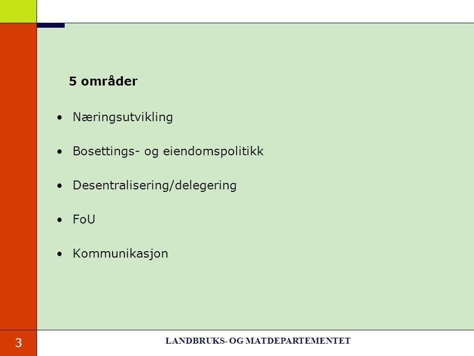 LANDBRUKS- OG MATDEPARTEMENTET