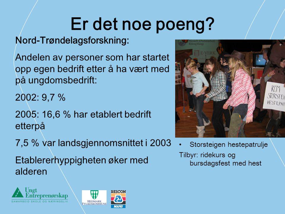 Er det noe poeng Nord-Trøndelagsforskning: