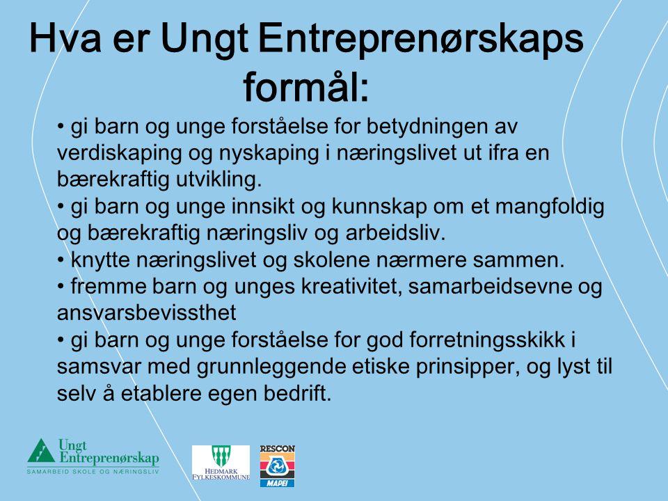 Hva er Ungt Entreprenørskaps formål: