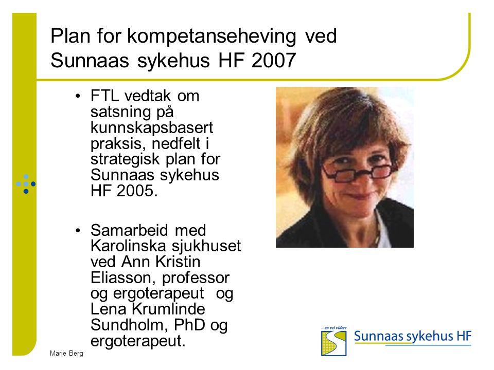 Plan for kompetanseheving ved Sunnaas sykehus HF 2007