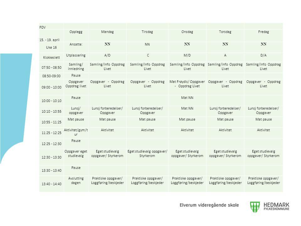 Samling/info Oppdrag Livet 08:50-09:00 Pause 09:00 - 10:00