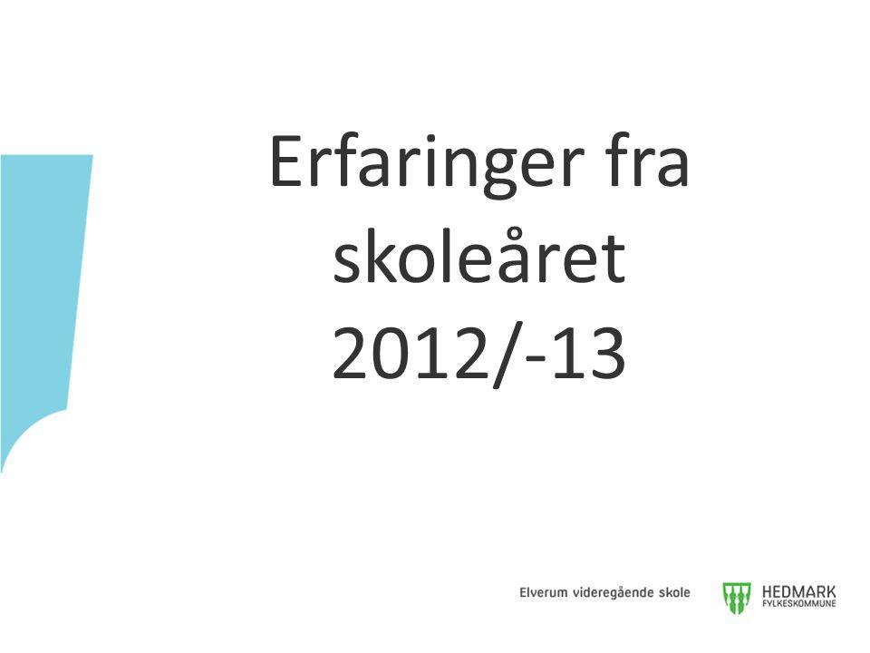 Erfaringer fra skoleåret 2012/-13