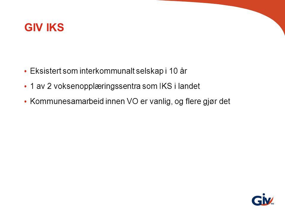 GIV IKS Eksistert som interkommunalt selskap i 10 år
