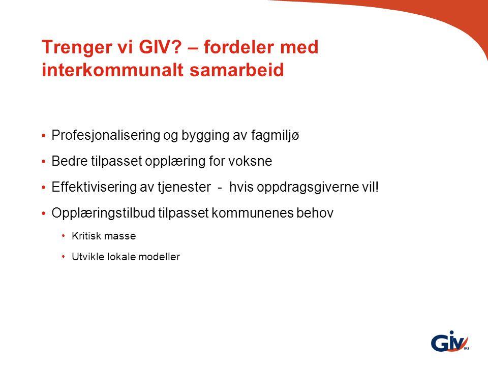 Trenger vi GIV – fordeler med interkommunalt samarbeid