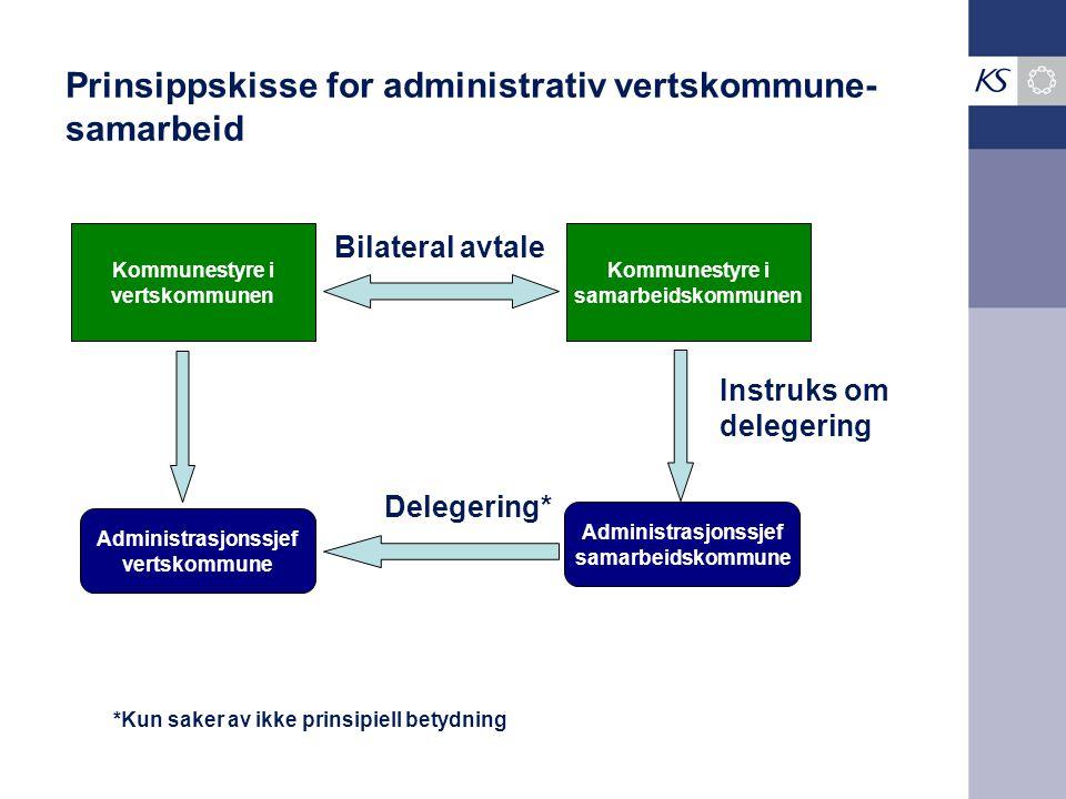 Prinsippskisse for administrativ vertskommune-samarbeid