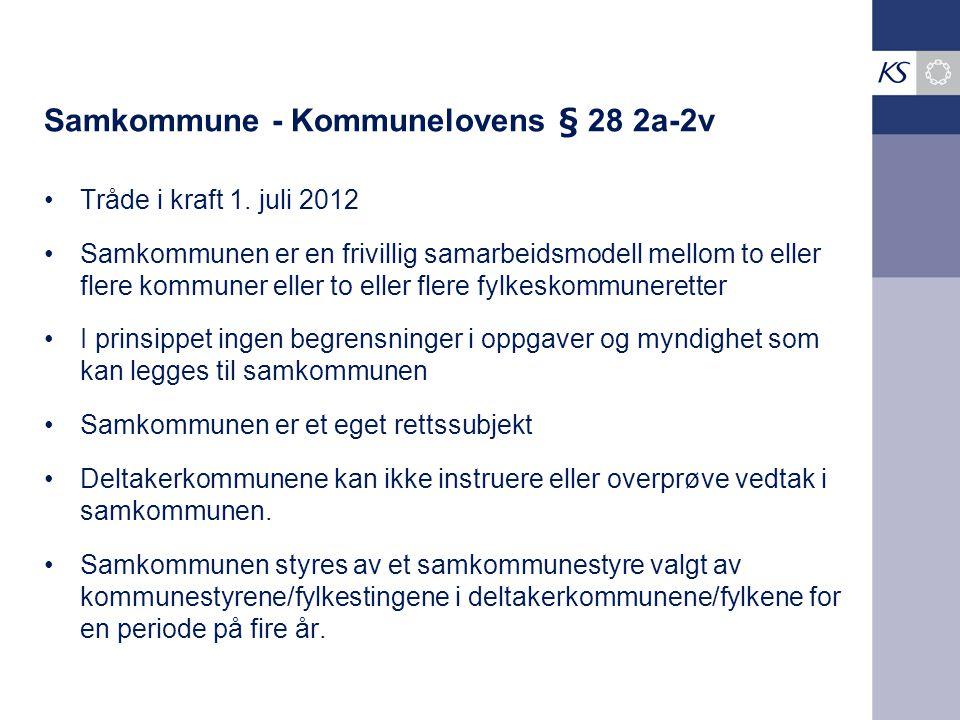 Samkommune - Kommunelovens § 28 2a-2v