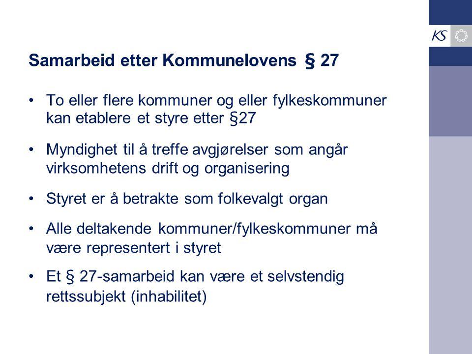 Samarbeid etter Kommunelovens § 27