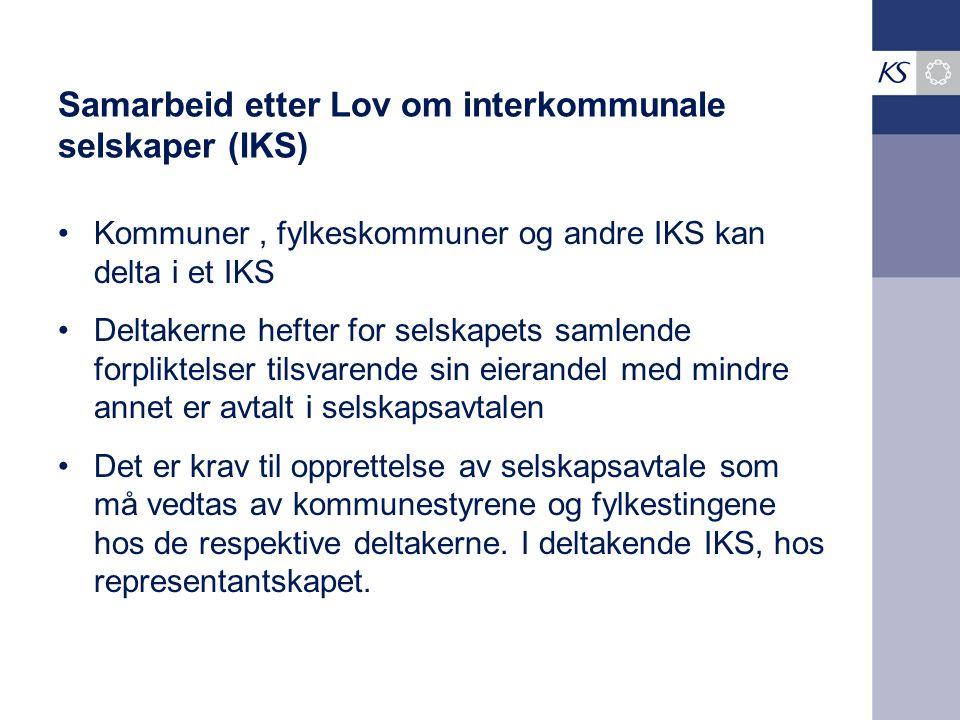 Samarbeid etter Lov om interkommunale selskaper (IKS)