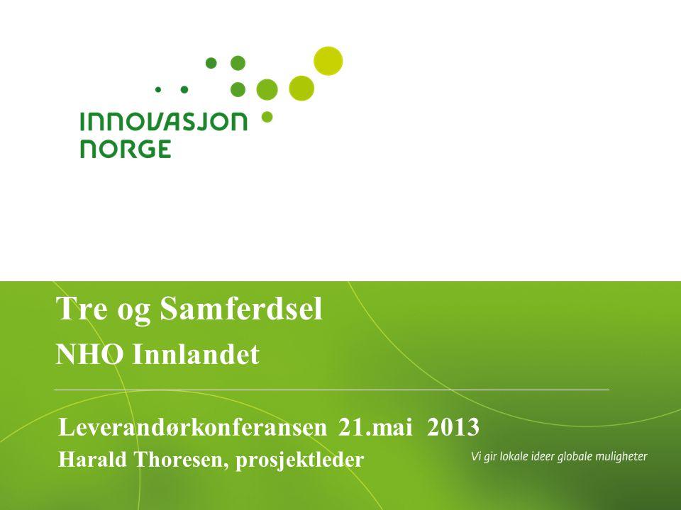 Leverandørkonferansen 21.mai 2013 Harald Thoresen, prosjektleder