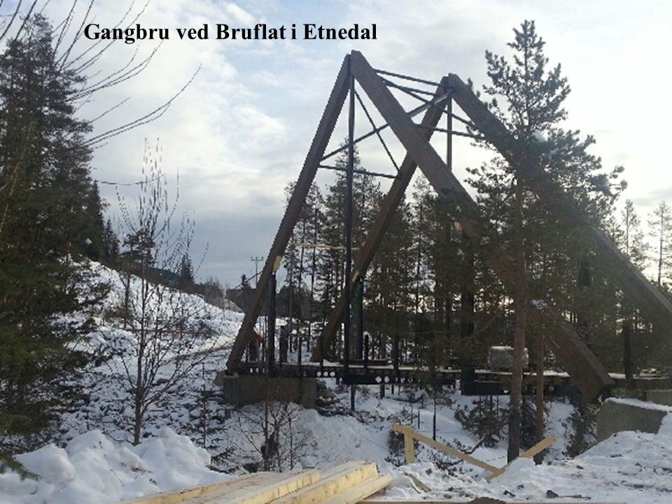 Gangbru ved Bruflat i Etnedal