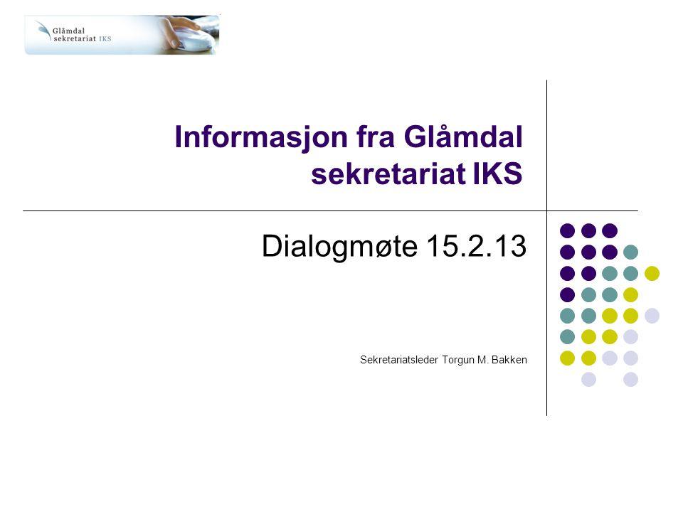 Informasjon fra Glåmdal sekretariat IKS