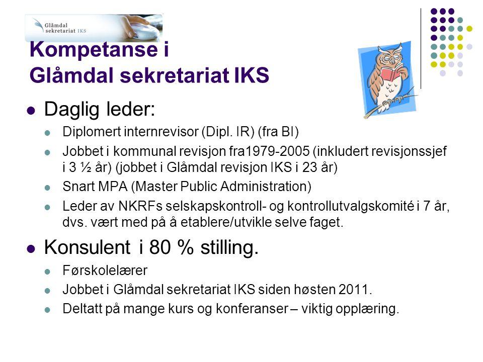 Kompetanse i Glåmdal sekretariat IKS