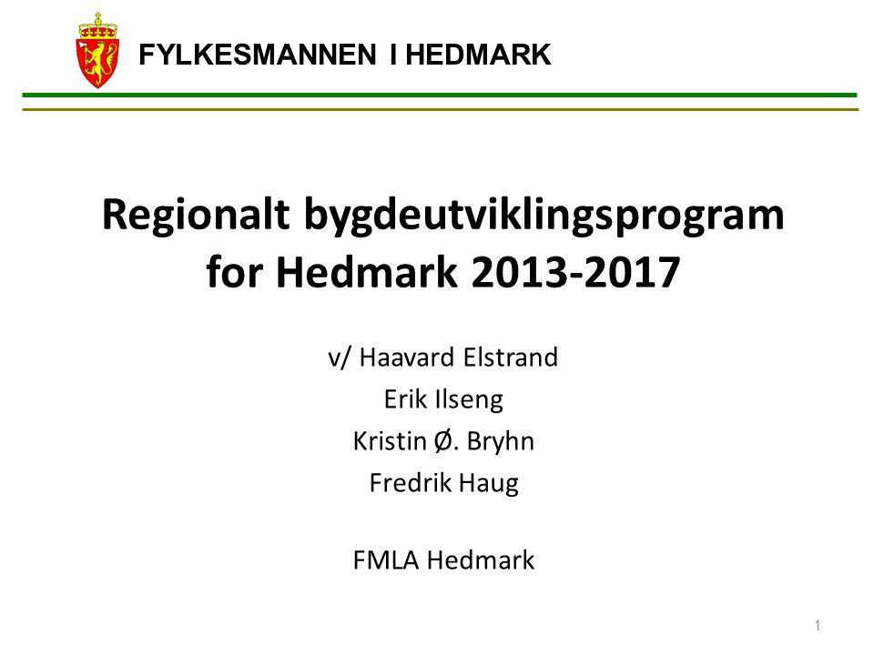 Regionalt bygdeutviklingsprogram for Hedmark 2013-2017