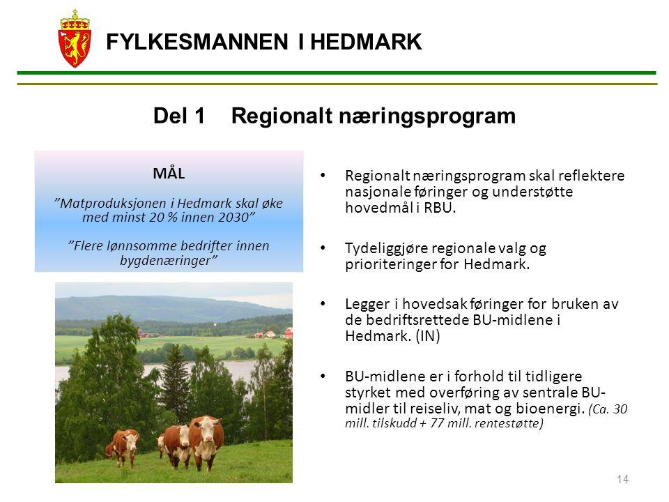 Del 1 Regionalt næringsprogram