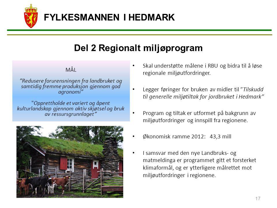 Del 2 Regionalt miljøprogram