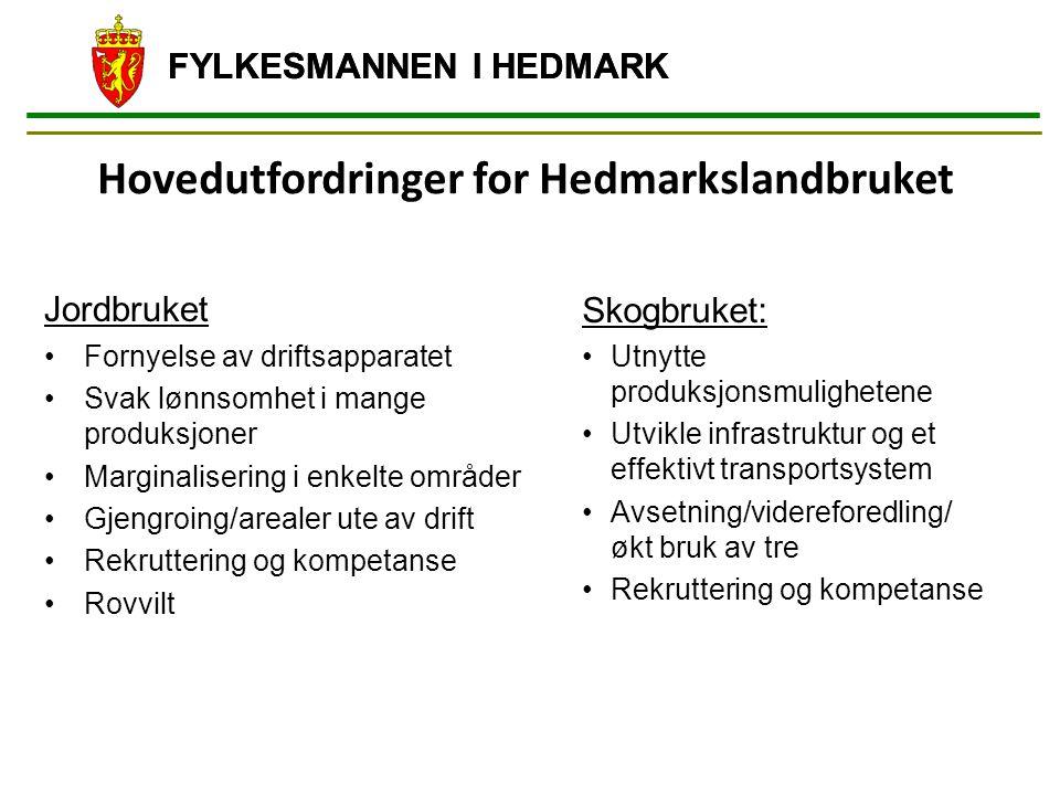 Hovedutfordringer for Hedmarkslandbruket