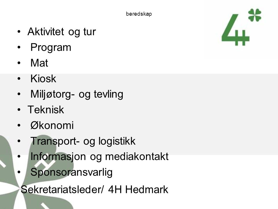Sekretariatsleder/ 4H Hedmark