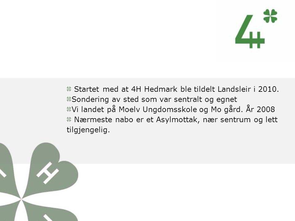 Startet med at 4H Hedmark ble tildelt Landsleir i 2010.