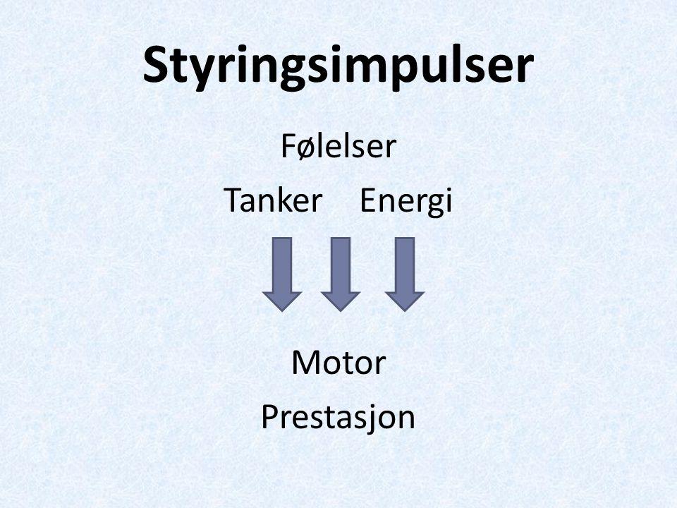 Følelser Tanker Energi Motor Prestasjon