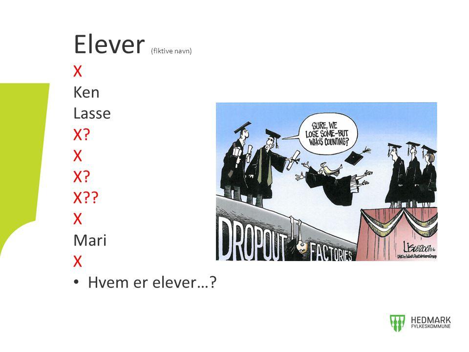 Elever (fiktive navn) X Ken Lasse X X Mari Hvem er elever…