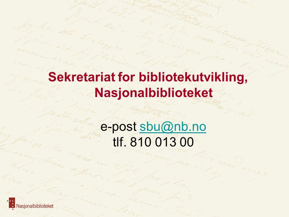 Sekretariat for bibliotekutvikling, Nasjonalbiblioteket