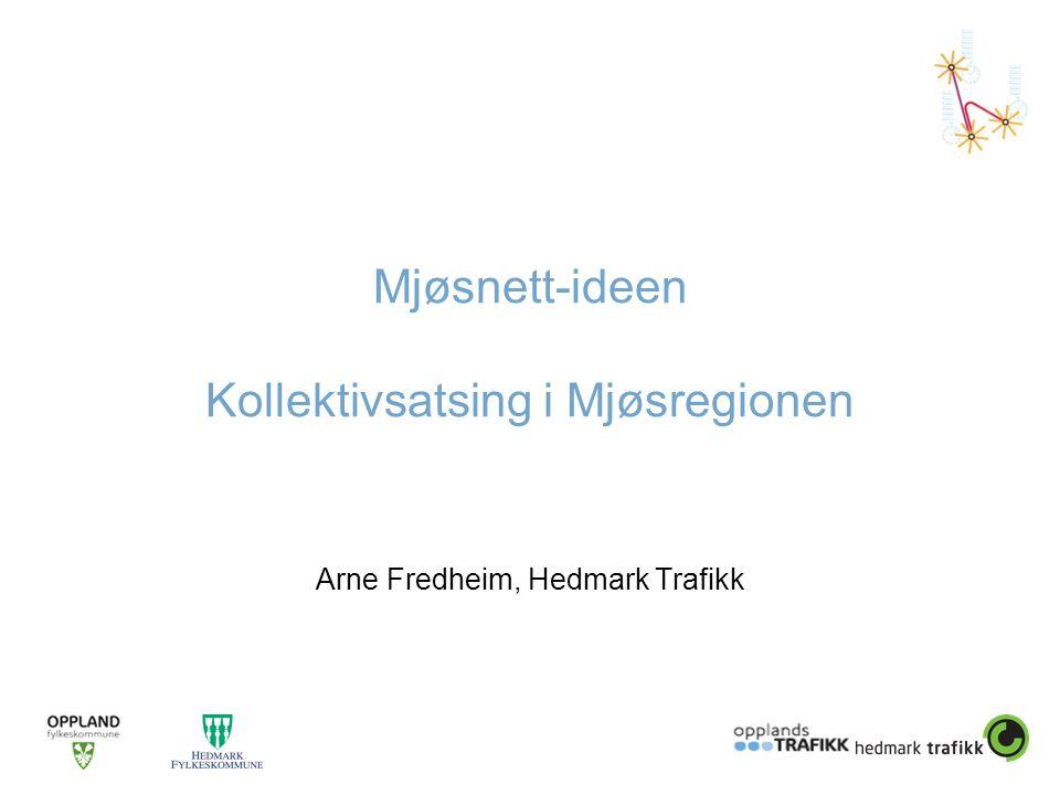 Mjøsnett-ideen Kollektivsatsing i Mjøsregionen