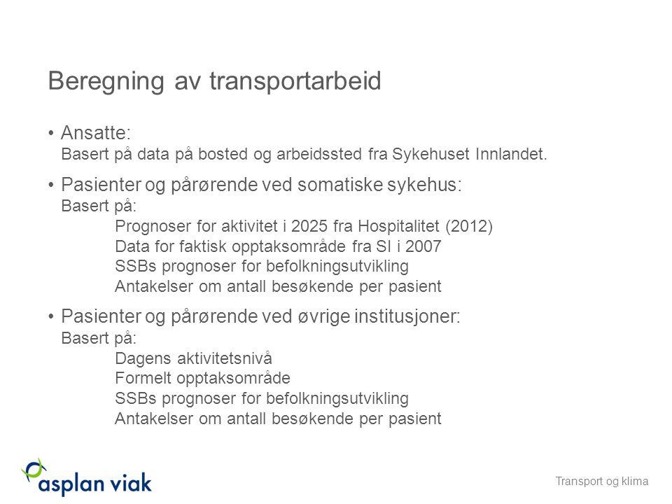 Beregning av transportarbeid